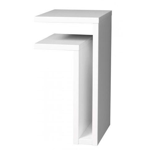 F-Shelf Bedside Shelf White   Left