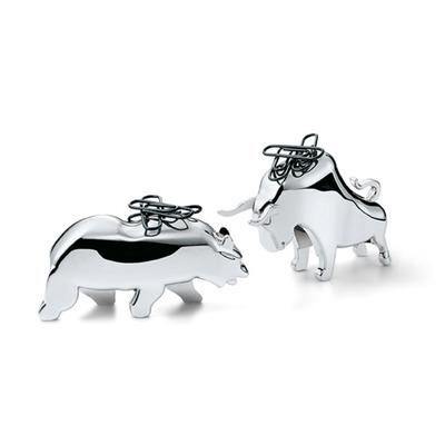 Büroklammer-Halter Bull & Bear