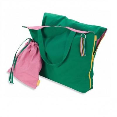 Pillowbag   Green - Pink