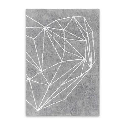 Teppich Herz | Grau