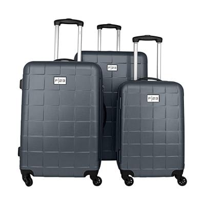 3-Teiliges Trolley-Set ABS Wave 3.0 mit TSA-Schloss   Schwarz