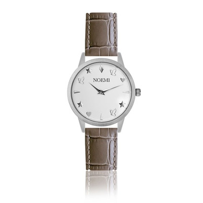 Uhr Frau Noemi I Silber-Mocha