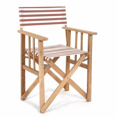 Director Chair Striped | Beige/Natural Tissue