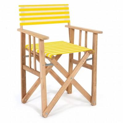 Director Chair Striped | Yellow/Natural Tissue