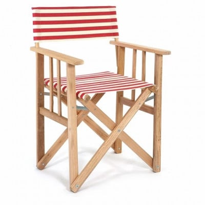 Director Chair Striped | Red/Natural Tissue