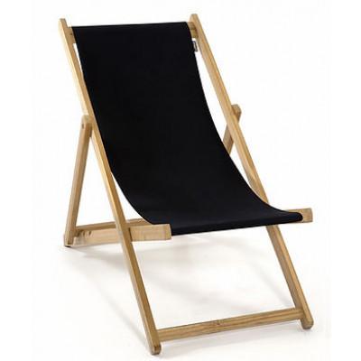 Strandstuhl ohne Armlehne | Schwarz