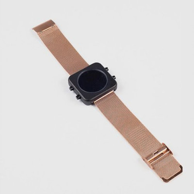 Circa Watch | Mesh, Black Case, Rose