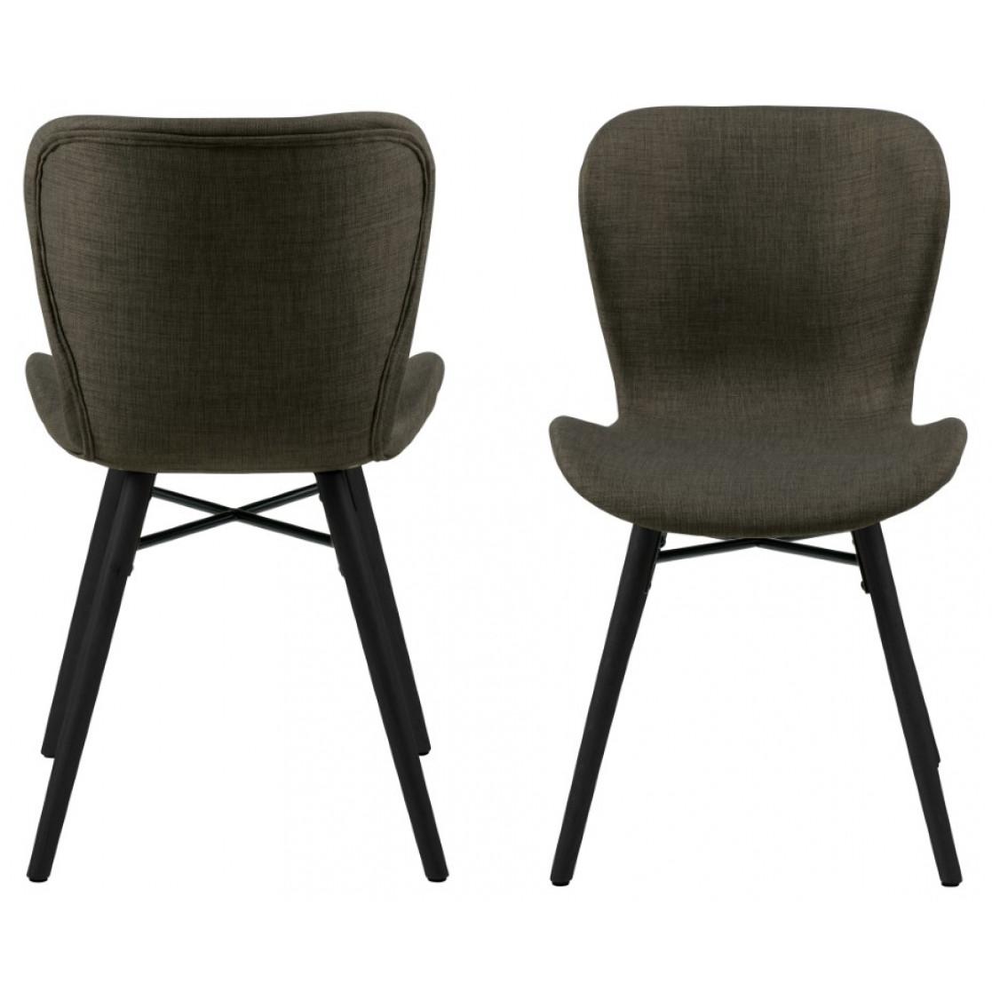 Set of 2 Chairs Matilda-A1 | Khaki & Black