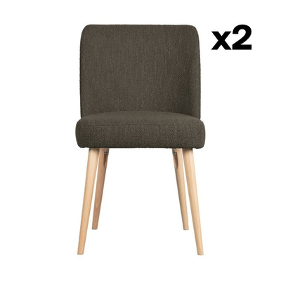 2-er Set Stühle Force | Braun
