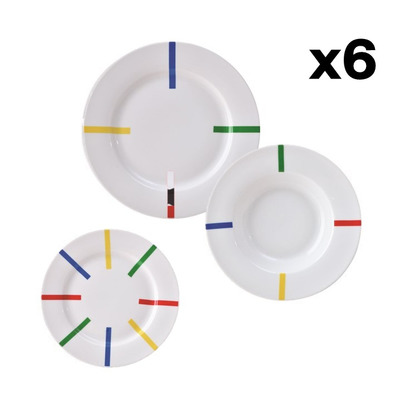 18er-Set Geschirr Po Be I Weiß