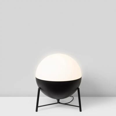 Table Lamp Half Tripod ø 25 cm  | Matt Black