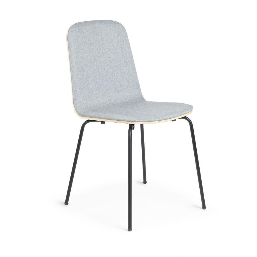 Chair Chrystel   Grey & Light Wood