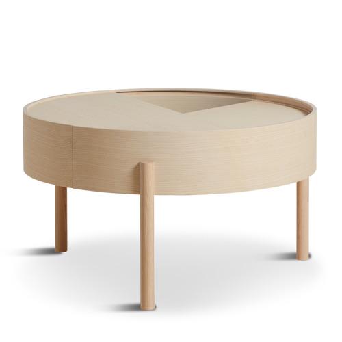 Coffee Table Arc | White Pigmented Ash Wood Medium