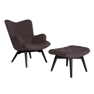 Vintage Chair & Hocker   Farbe Casa Chocolate 17