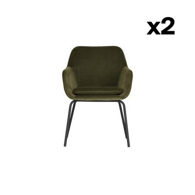 2-er Set Esszimmerstühle Mood | Grün