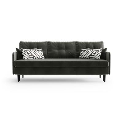 3-Sitzer Schlafsofa Memphis | Schwarz