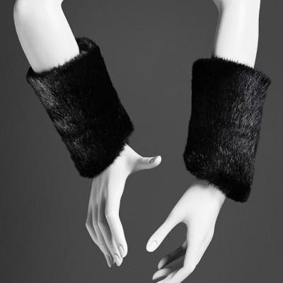 Wrist Warmer | Black Faux Fur