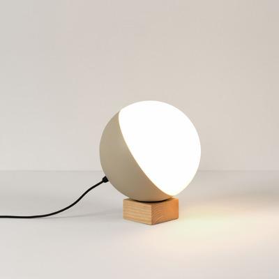 Table Lamp Half Medium Ball ø 25 cm | Wooden Base
