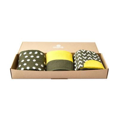 Unisex-Socken 3er-Set   Grün Feinste