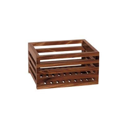 Aufbewahrungskorb | Dunkles Holz