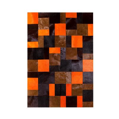 Lederteppich   Mix Orange Rivoli