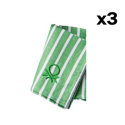 3er-Set Küchentücher/Serviette Po Be I Grün