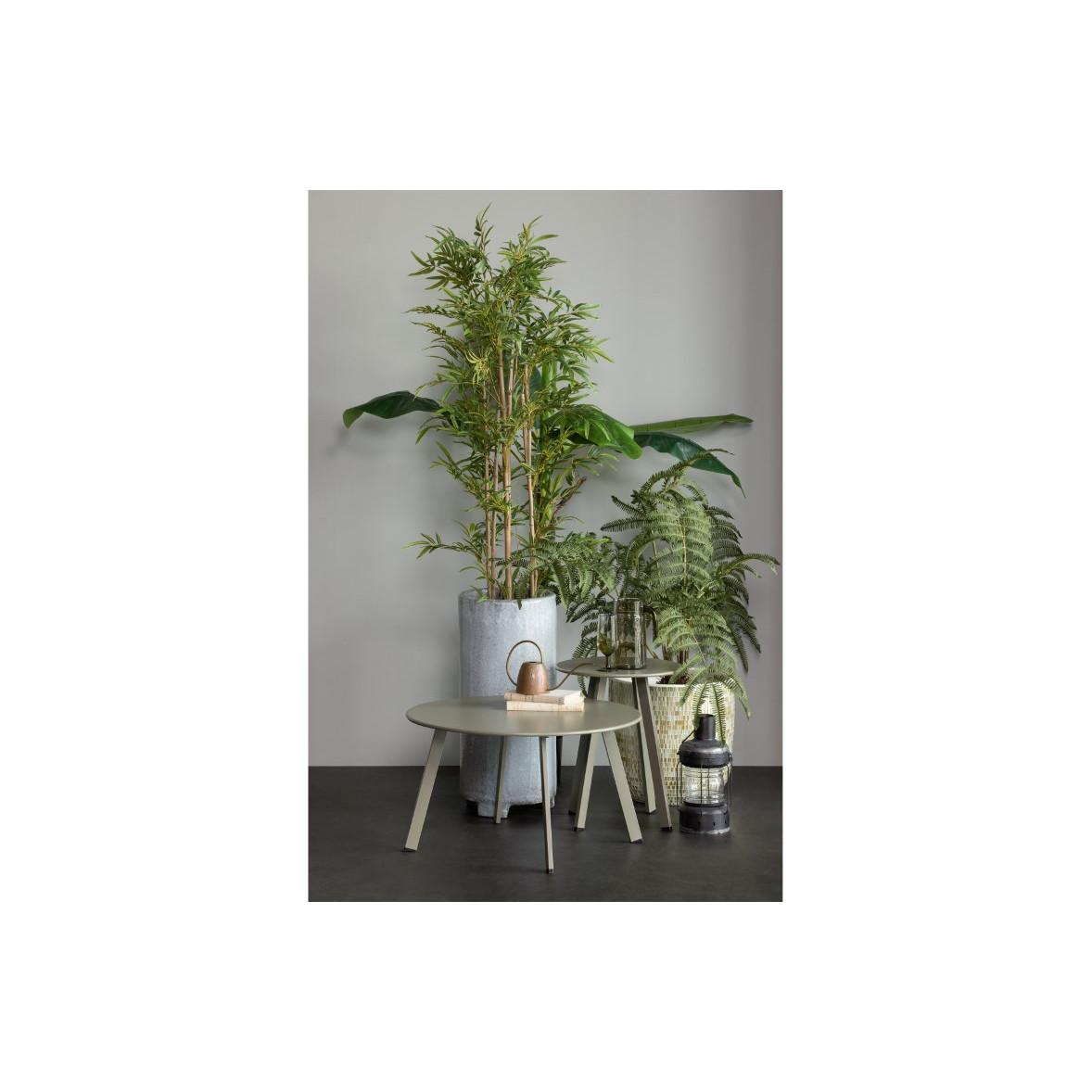 Beistelltisch für Draußen Fer Ø 70 cm | Dschungelgrün