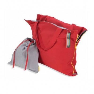 Pillowbag   Red - Grey