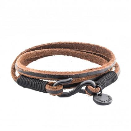 Bracelet | Leather Black Hook