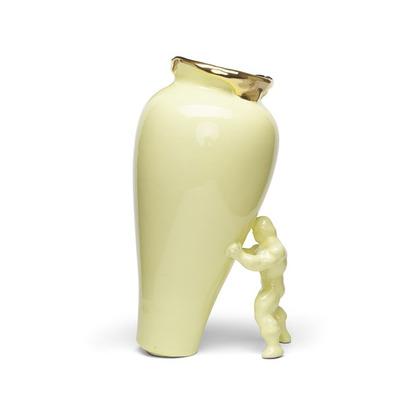 Vase My Superhero I Gelb-Gold