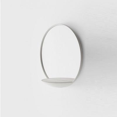 Spiegel mit Ablage | Weiß