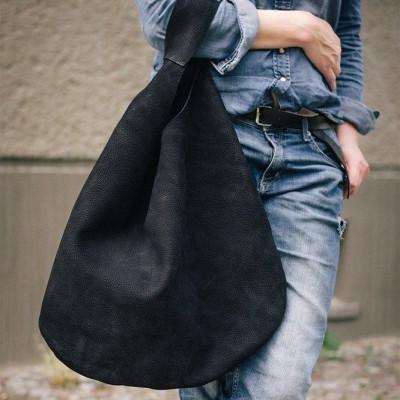 Black Oversized Tote Patkas Hobo