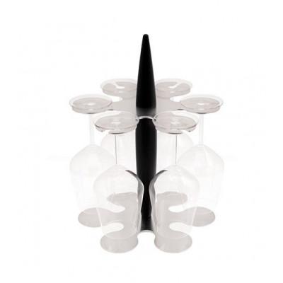 Felix Hora Glass Holder with 6 Glasses | Black