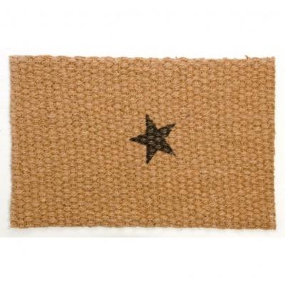 Doormat Black Star