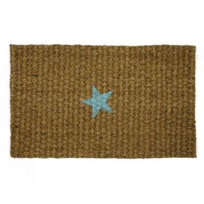 Doormat Turquoise Star