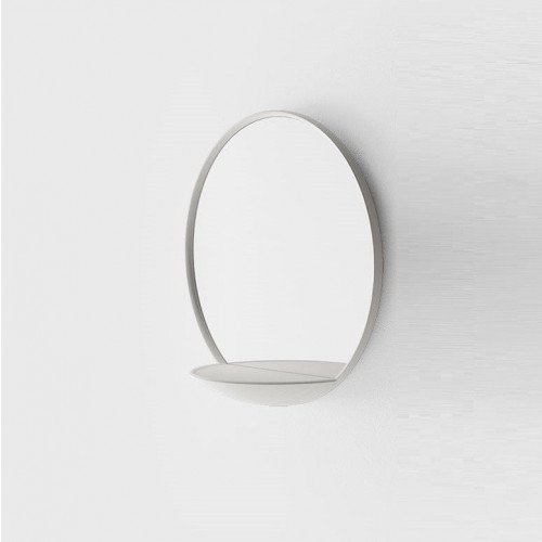 Mirror with Shelf | White