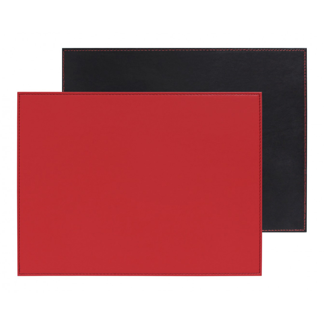 Umkehrbares Rechteckiges Tischset   Rot / Schwarz