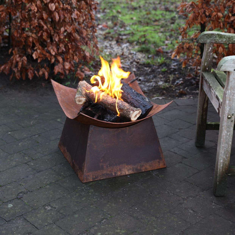 Feuerkorb Rost Viereck