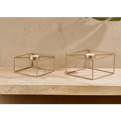 Derwala Square T-Light Small | Antikes Messing
