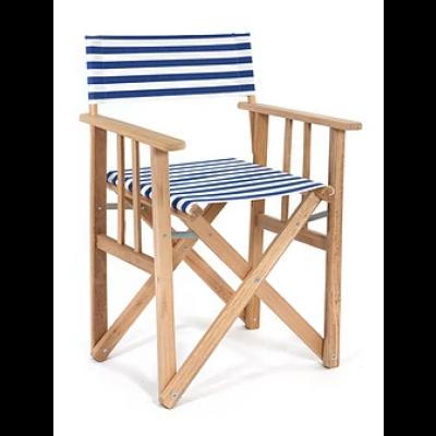 Director Chair Striped | Blue / White
