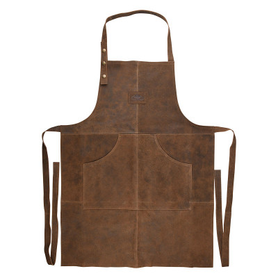 Leder Schürze BBQ   Braun