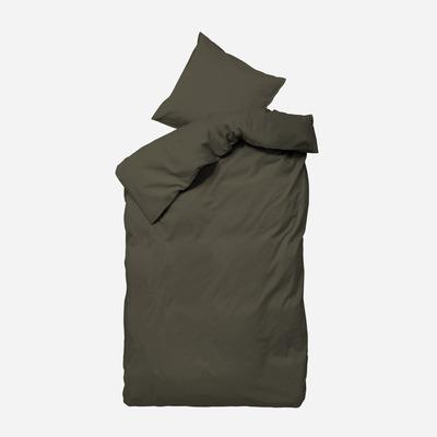 Einzelner Bettbezug mit Kopfkissenbezug 50 x 70 Ingrid   Braun