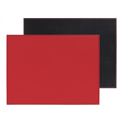 Umkehrbares Rechteckiges Tischset | Rot / Schwarz
