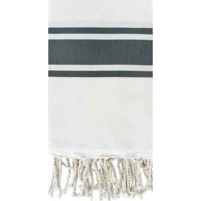 Fouta Weiß & Grau