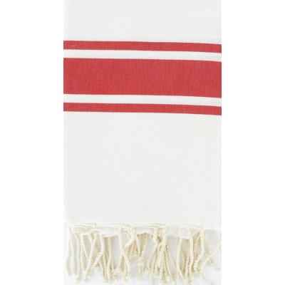 Fouta Weiß & Rot