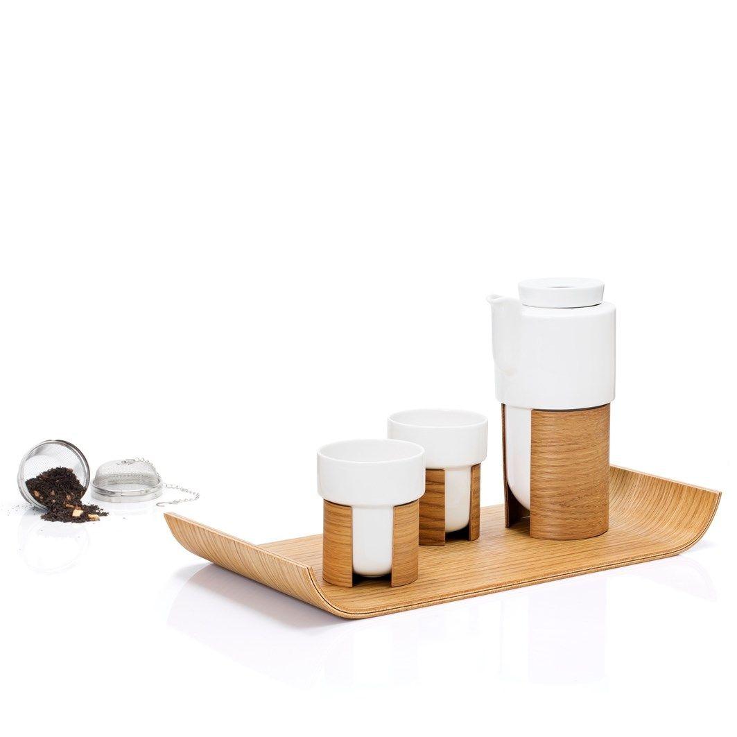 WARM Tee-Geschenkset | Weiß/Eiche