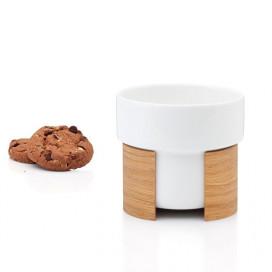 WARM Latte Cup | Weiß/Eiche