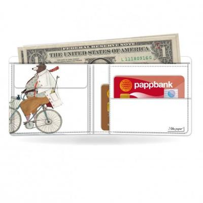 Klassische Brieftasche   Radfahrender Bär