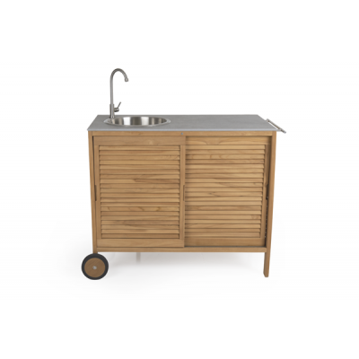Outdoor-Küche Figalia | Helles Holz & Beton