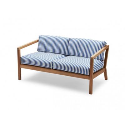 Outdoor-Sofa Virkelyst | Blaue Streifen